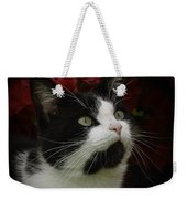 Black And White Tuxedo Cat Weekender Tote Bag