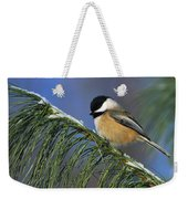 Black-capped Chickadee Weekender Tote Bag by Tony Beck