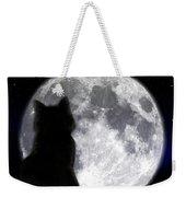 Black Cat And Full Moon Weekender Tote Bag
