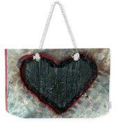 Black Heart Weekender Tote Bag by Jane Clatworthy
