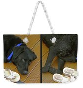 Black Lab - Gently Cross Your Eyes And Focus On The Middle Image Weekender Tote Bag
