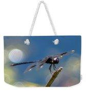 Black Spotted Dragonfly Weekender Tote Bag