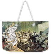 Blaine Cartoon, 1884 Weekender Tote Bag