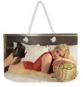 Blonde In Lingerie Weekender Tote Bag