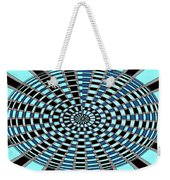 Blue And Black Abstract Weekender Tote Bag