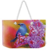 Blue Bird In The Lilac's Weekender Tote Bag