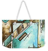 Blue Bonnet Original Abstract Pop Art Style Acrylic Painting By Madart Weekender Tote Bag