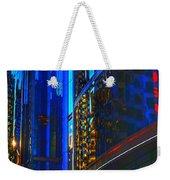 Blue Cityscape Weekender Tote Bag