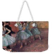 Blue Dancers Weekender Tote Bag by Edgar Degas