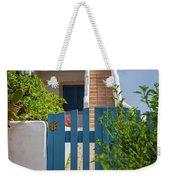 Blue Gate In Greece Weekender Tote Bag