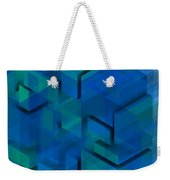 Blue Geometric Composition 1 Weekender Tote Bag