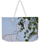 Blue Jay In Tree Weekender Tote Bag