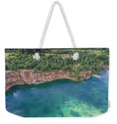 Blue Laggon See From Above In Old Sand Mine In Poland. Weekender Tote Bag