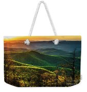Blue Ridge Sunset Weekender Tote Bag