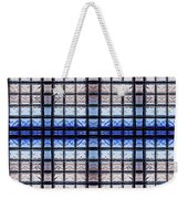 Blue Toned Glass Brick Window Abstract  Weekender Tote Bag