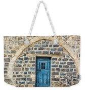 Blue Traditional Door Weekender Tote Bag
