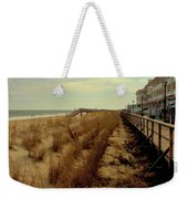 Boardwalk In Winter Weekender Tote Bag