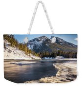 Bow River With Mountain View Banf National Park Weekender Tote Bag