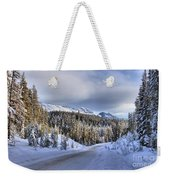 Bow Valley Parkway Winter Conditions Weekender Tote Bag