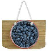 Bowl Of Fresh Blueberries Weekender Tote Bag