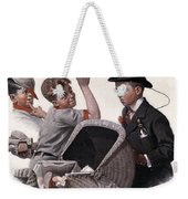 Boy With Baby Carriage Weekender Tote Bag