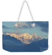 Breathtaking Scenic View Of The Alps In Italy  Weekender Tote Bag