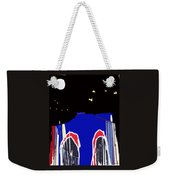 Brooklyn Bridge Blue Weekender Tote Bag