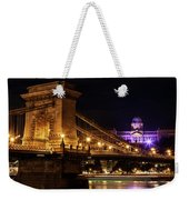 Budapest City By Night Weekender Tote Bag
