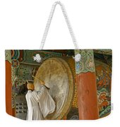 Buddhist Monk Drumming Weekender Tote Bag