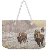 Buffalo Under The Alpenglow Weekender Tote Bag