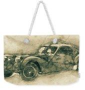 Bugatti Type 57 - Atlantic 3 - 1934 - Automotive Art - Car Posters Weekender Tote Bag