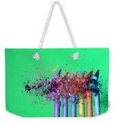 Bullet Hitting Crayons Weekender Tote Bag