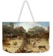 Bullfight In A Divided Ring Weekender Tote Bag