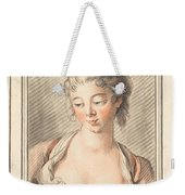 Bust Of A Young Woman Looking Down Weekender Tote Bag