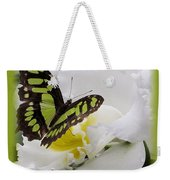 Butterfly On White Weekender Tote Bag