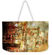 Cadillac Ranch On Route 66 Weekender Tote Bag