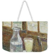 Cafe Table With Absinthe Weekender Tote Bag