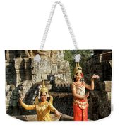 Cambodian Dancers At Angkor Thom Weekender Tote Bag