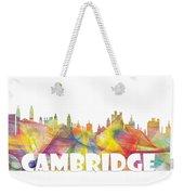 Cambridge England Skyline Weekender Tote Bag