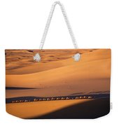 Camel Caravan Crosses The Dunes Weekender Tote Bag