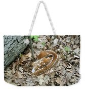 Camouflaged Fawn Weekender Tote Bag