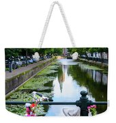 Canal And Decorated Bike In The Hague Weekender Tote Bag
