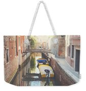 Canals Of Venice With Instagram Vintage Style Filter Weekender Tote Bag