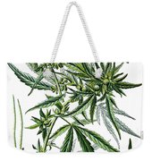 Cannabis Sativa Weekender Tote Bag
