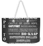 Cape Town Famous Landmarks Weekender Tote Bag