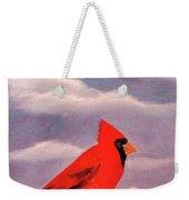 Cardinal Christmas Weekender Tote Bag