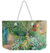 Carl Larsson, Garden Scene From Marstrand On The West Coast Of Sweden. Weekender Tote Bag