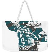 Carson Wentz Philadelphia Eagles Pixel Art 5 Weekender Tote Bag