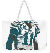 Carson Wentz Philadelphia Eagles Pixel Art 6 Weekender Tote Bag