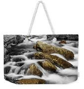 Cascading Water And Rocky Mountain Rocks Weekender Tote Bag